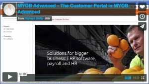 MYOB Advanced Demonstration Video - The Customer Portal in MYOB Advanced