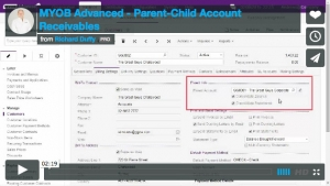 MYOB Advanced Demonstration Video - Parent-Child Account Receivables