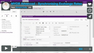 MYOB Advanced Demonstration Video - Synchronising Exchange Rates