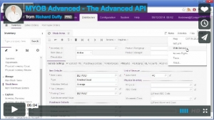 MYOB Advanced Demonstration Video - The Advanced API