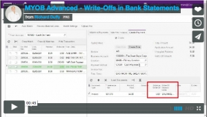 MYOB Advanced Demonstration Video - Write-Offs in Bank Statements in MYOB Advanced