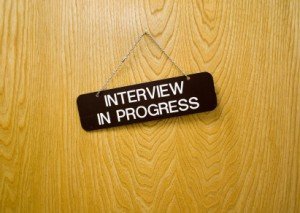 Interview in progress