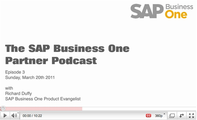 SAP Business One Channel Partner Podcast - Episode 3