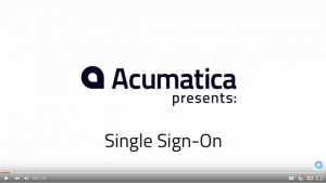 Acumatica Demonstration Videos - Single Sign On – Multiple Providers